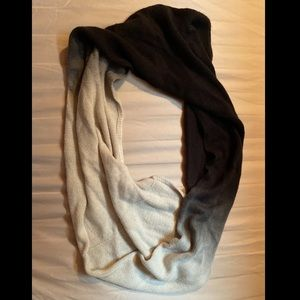 Black and White Ombre Infinity Scarf